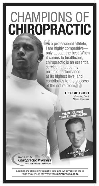 bush Champions of Chiropractic   Reggie Bush
